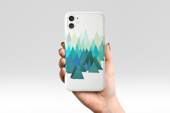 Mountain Phone Case, Blue Abstract Device Cover - Cold Mountain