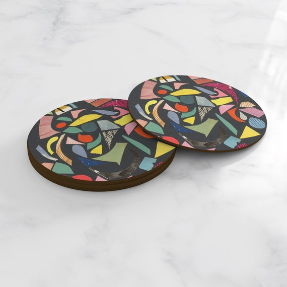 Terrazzo Coasters, Home Gifts, Tableware - Black Terrazzo