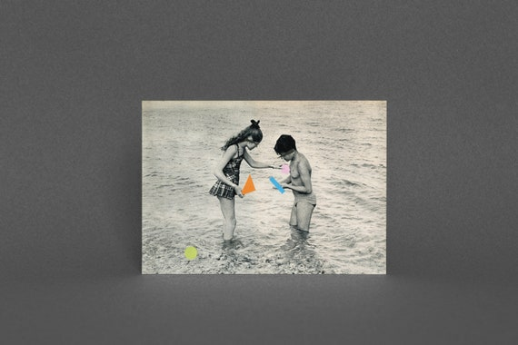 Beach Greeting Card, Ocean Art, Blank Greetings Card - Washed Up