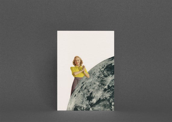 Romantic Greetings Card - He Gave Her the Moon