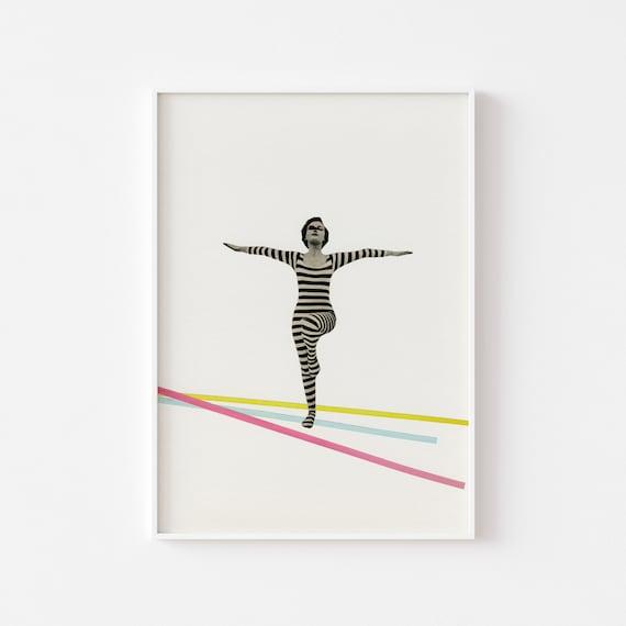 Yoga Decor, Dance Print, Female Portrait - The Bold and the Bright