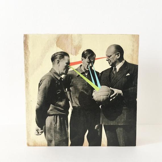 Wood Wall Art, Football Gift - Keep Your Eye on the Ball