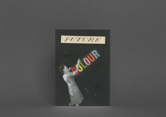 Retro Greeting Card, Rainbow Card - Future Colour