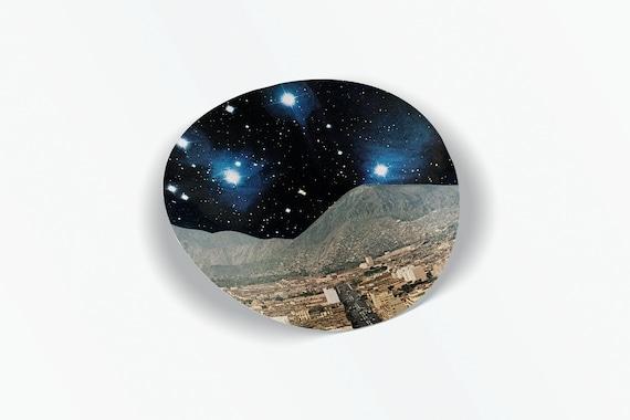 Space Vinyl Sticker - Space City