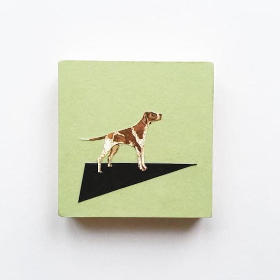 Wood Dog Art, Pointer Art, Dog Lover GIft, Wood Wall Hanging - German Pointer