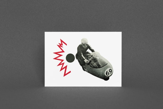Father's Day Card, Motorbike Card, Birthday Card for Dad or Boyfriend - Motorcycle Madness
