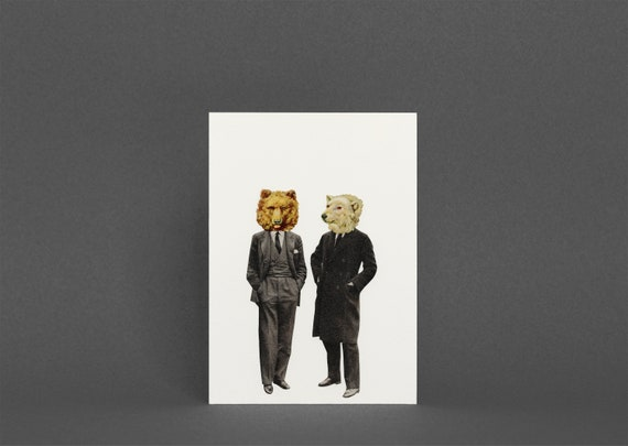Bear Card, Birthday Card for Dad or Boyfriend - The Likely Lads
