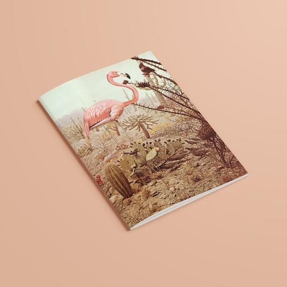 Flamingo Notebook, Recycled A5 Bird Journal - Wild Flamingo