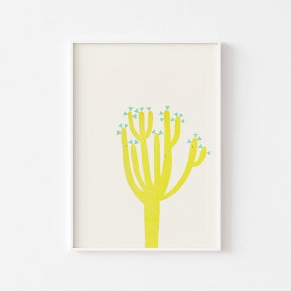 Cactus Art Print - Modern Cactus