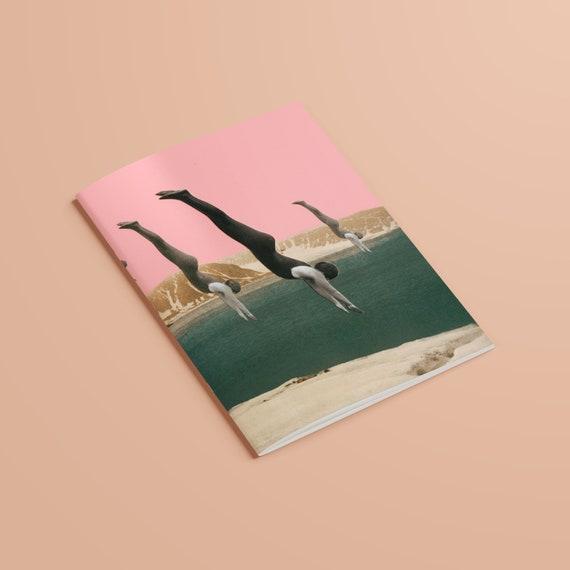 Mountain Art Notebook, Recycled A5 Art Journal - Dive