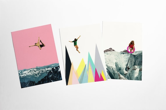 Mountain Postcards With Envelopes, Affordable Art, Modern Stationery, Gift Ideas - Other Worlds