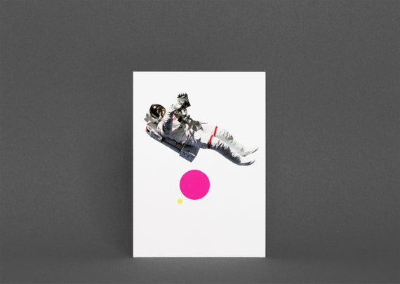 Astronaut Card, Space Card, Fathers Day Card - Float