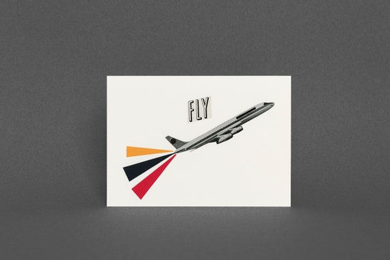 Plane Card, Fathers Day Card - Fly