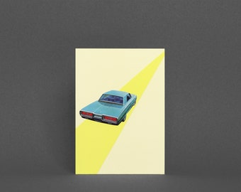 Car Greeting Card, Fathers Day Card - Open Road