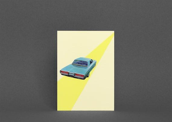 Car Greetings Card - Open Road