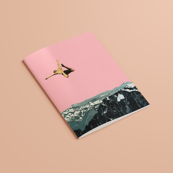 Mountain Notebook, Recycled A5 Art Journal - Higher Than Mountains