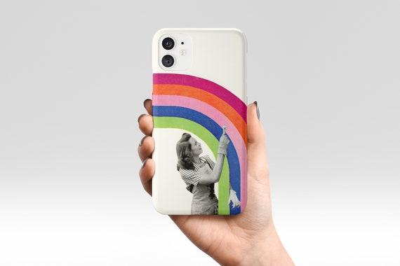 Rainbow Phone Case, Retro Device Cover, iPhone, Samsung Galaxy - Paint a Rainbow