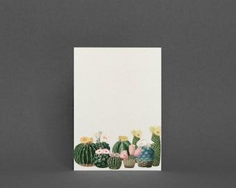 Cactus Card, Botanical Greeting Card - Cactus Garden