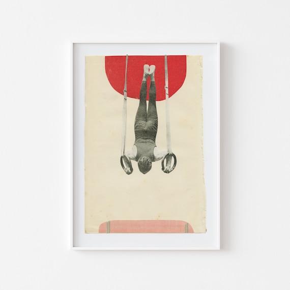 Gymnastics Print, Male Portrait, Vintage Sports Art - Still