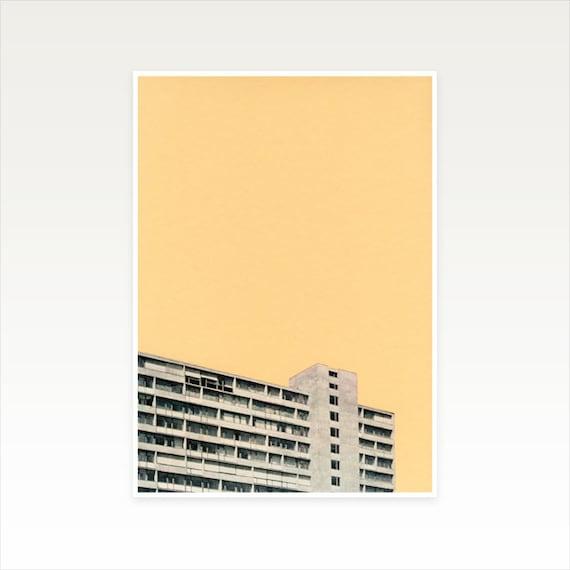 A5 Architecture Print, Modernist Art, Boyfriend Gift, Sale Item - Hot in the City
