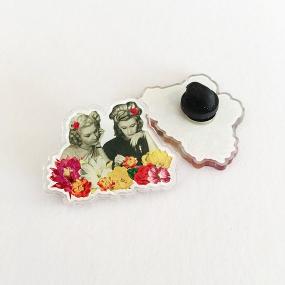 Floral Acrylic Pin - Flower Collectors