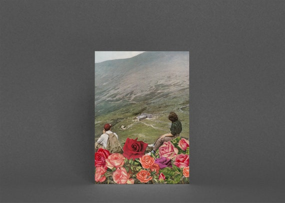Greetings Card - Life is a Bed of Roses