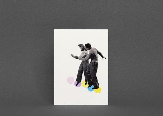 Card for Dancer, Birthday Card for Girlfriend - Dance Steps