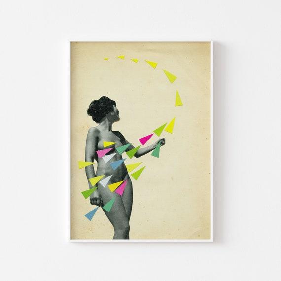 Nude Portrait Art, Pop Surrealism - She's a Whirlwind