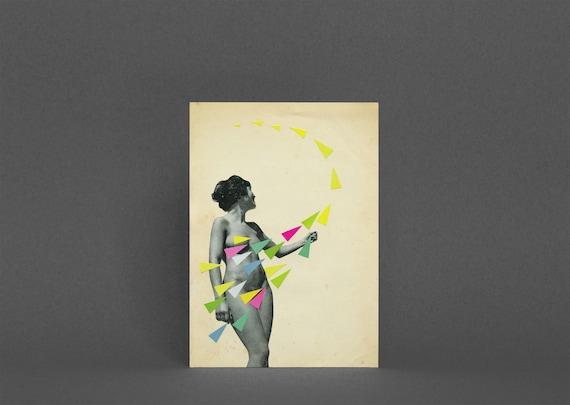 Female Portrait Card - She's a Whirlwind