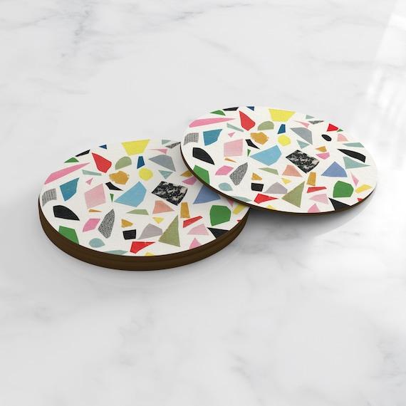 Terrazzo Style Coasters - White Terrazzo