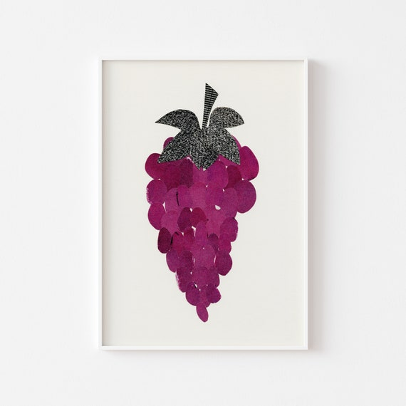 Grapes Print, Kitchen Wall Decor, Gift for Foodie - Grapes