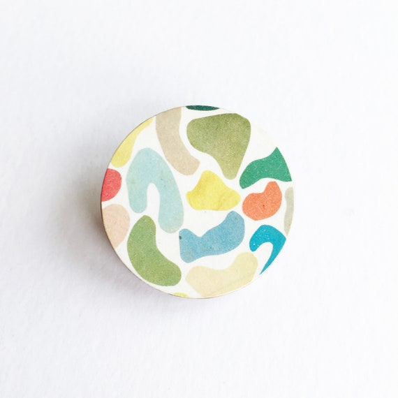Abstract Brooch, 5th Anniversary Gift, Modern Jewellery