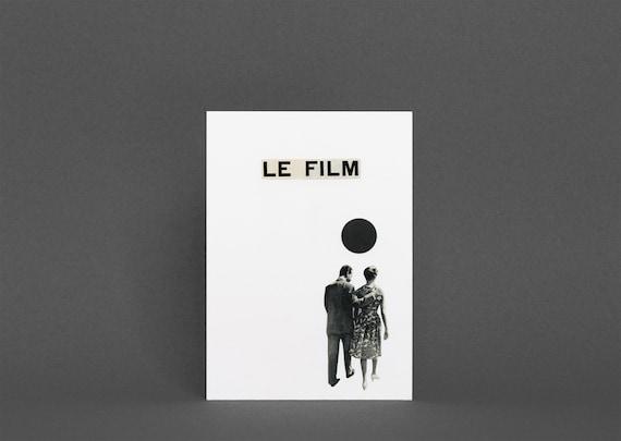 Anniversary Card, Movie Lover, Card for Boyfriend - Le Film