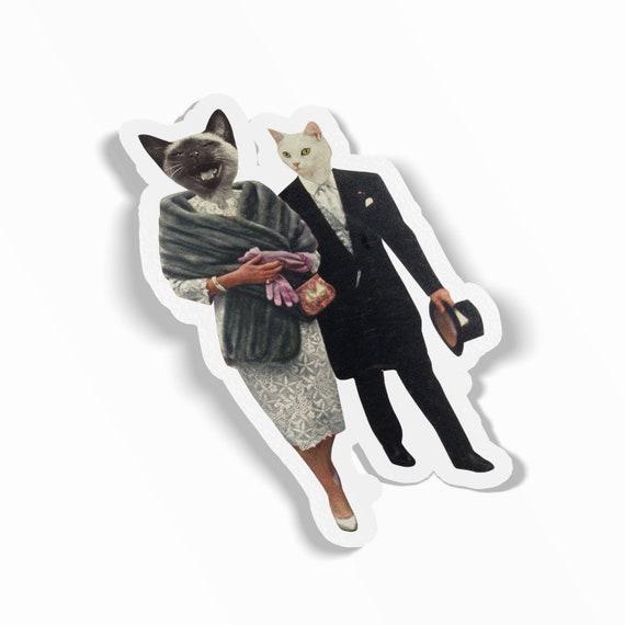 Cat Sticker, Vinyl Sticker, Device Decal - Cat Lovers