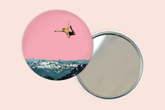 Mountain Pocket Mirror 76mm / 3 inches - Higher Than Mountains