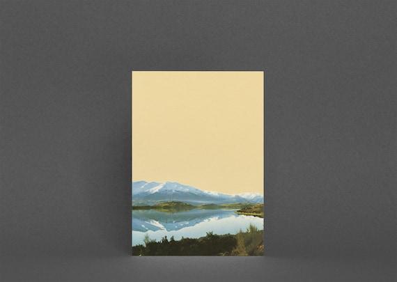 Mountain Card, Blank Greetings Card - Mountain Lake