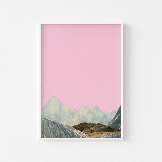 Pink Mountain Landscape Art Print - Silent Hills