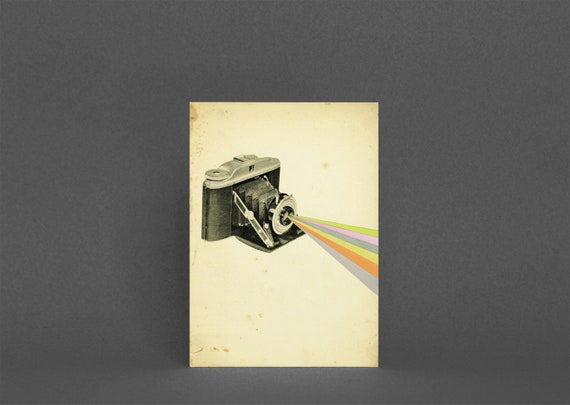 Camera Greetings Card - It's a Colourful World