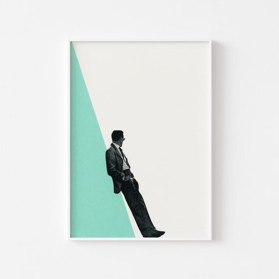 Male Portrait Print - Cool As a Cucumber