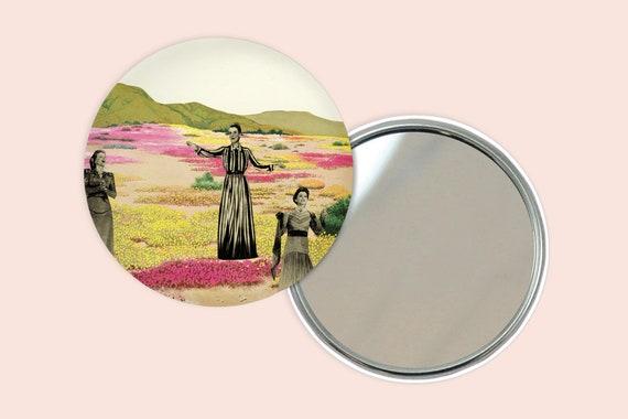 Retro Pocket Mirror 76mm / 3 inches - Human Cacti