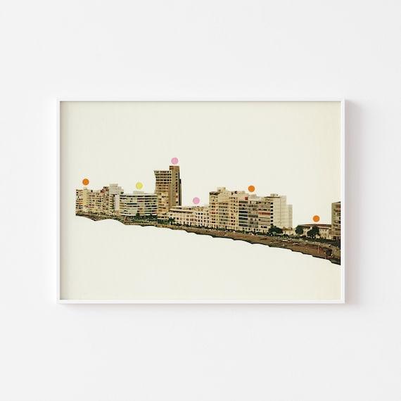 Resort Print, Mid Century Modern Art, Office Wall Decor - Wish You Were Here