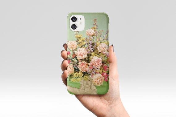 Flower Phone Case, Green Floral Device Cover, iPhone, Samsung Galaxy - Floral Fashions II