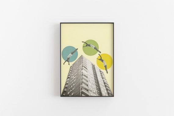 SALE Surface Framed City Print - High Flyers