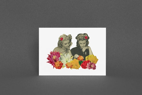 Floral Greetings Card - Flower Collectors