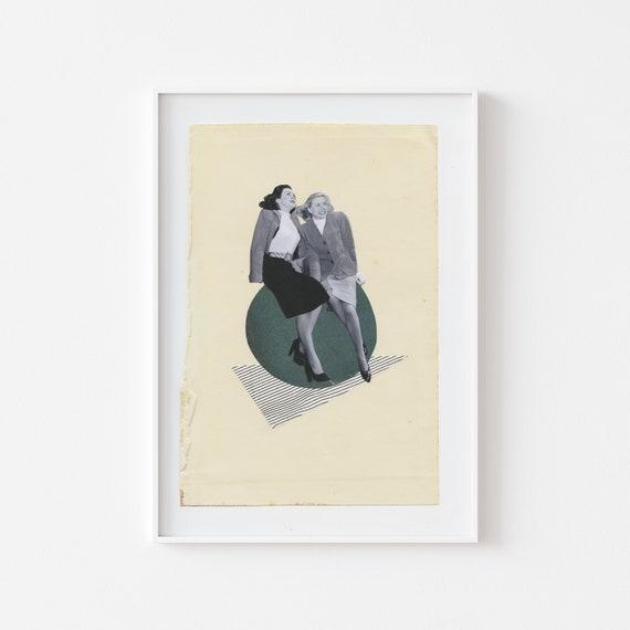 Friendship Print, Best Friend Gift, Portrait Art - Our Own Little World