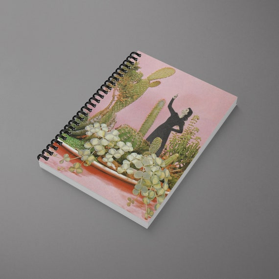 Art Spiral Notebook - The Wonders of Cactus Island