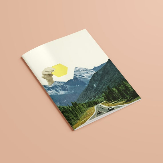 Mountain Notebook, Recycled A5 Journal - Moving Mountains