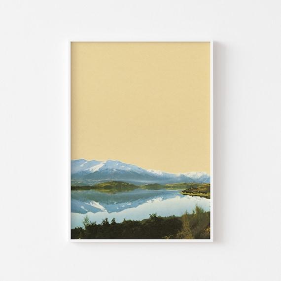 Landscape Art Print - Mountain Lake