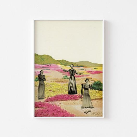 Cactus Print, Surreal Art, Large Wall Art - Human Cacti