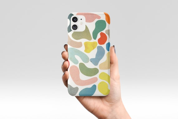Abstract Phone Case, Colourful Pattern Device Cover - Organic